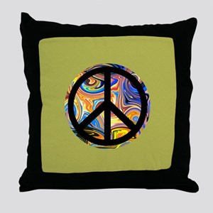 Abstract Peace-green Throw Pillow