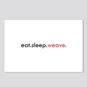 Eat Sleep Weave Postcards (Package of 8)