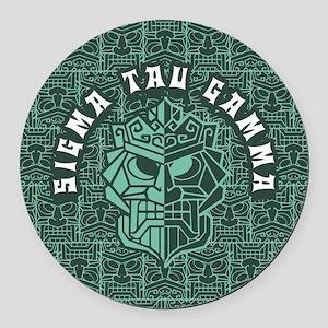 Sigma Tau Gamma Beach Round Car Magnet