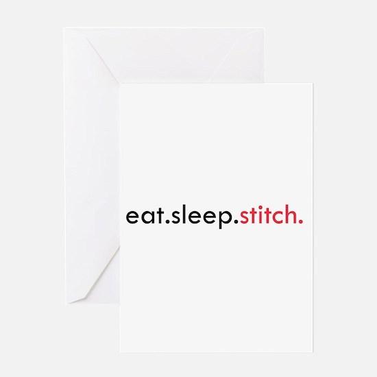 Eat Sleep Stitch Greeting Card