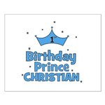 Christian 1st Birthday Prince Small Poster