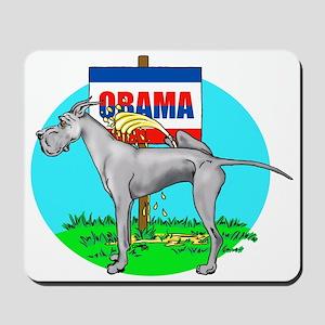 Blue Dane Pi$$ on Obama Mousepad