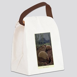 Vintage Armadillo Painting (1909) Canvas Lunch Bag