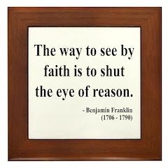 Benjamin Franklin 15 Framed Tile