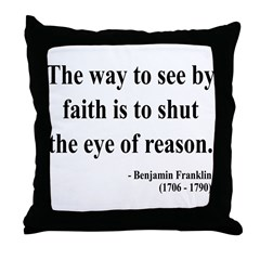 Benjamin Franklin 15 Throw Pillow