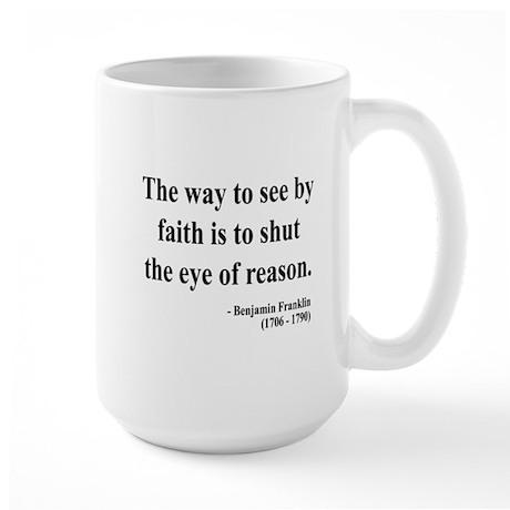 Benjamin Franklin 15 Large Mug