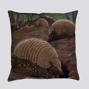 Vintage Armadillo Painting (1909) Everyday Pillow