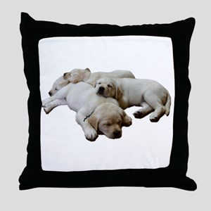 Lab Siblings Throw Pillow