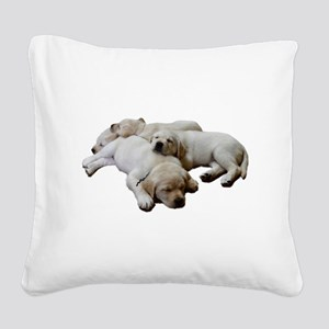 Lab Siblings Square Canvas Pillow