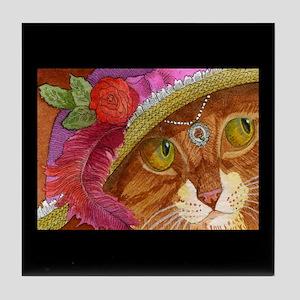 Pretty Girl Ginger CAT Tile Coaster