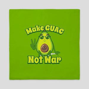 Emoji Avocado Make Guac Not War Queen Duvet