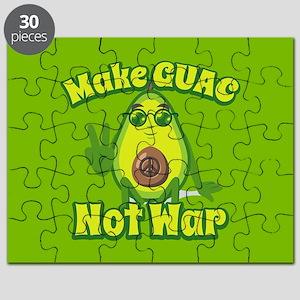Emoji Avocado Make Guac Not War Puzzle