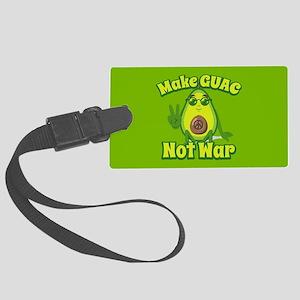 Emoji Avocado Make Guac Not War Large Luggage Tag