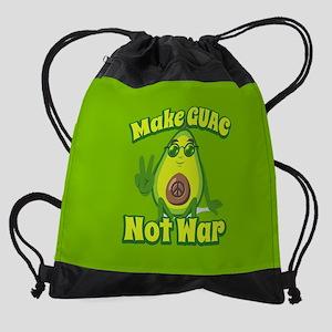 Emoji Avocado Make Guac Not War Drawstring Bag