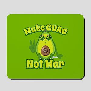 Emoji Avocado Make Guac Not War Mousepad
