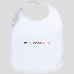 Eat Sleep Stamp Bib