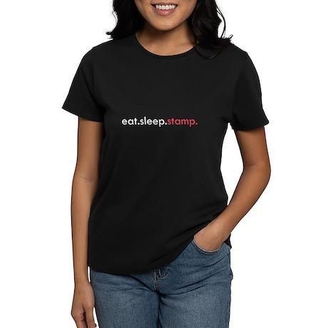Eat Sleep Stamp Women's Dark T-Shirt
