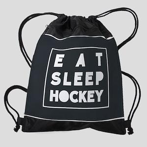 Eat Sleep hockey Drawstring Bag