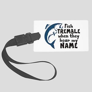 Fish Tremble Large Luggage Tag