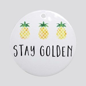 Stay Golden Round Ornament