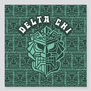"Delta Chi Beach Square Car Magnet 3"" x 3"""