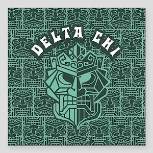 """Delta Chi Beach Square Car Magnet 3"""" x 3"""""""