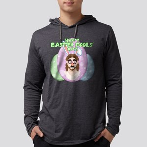 Happy Easter Fool's Day! Funny Jesus Mens Hooded S