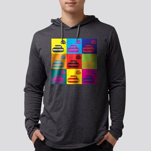 Curling Pop Art Long Sleeve T-Shirt
