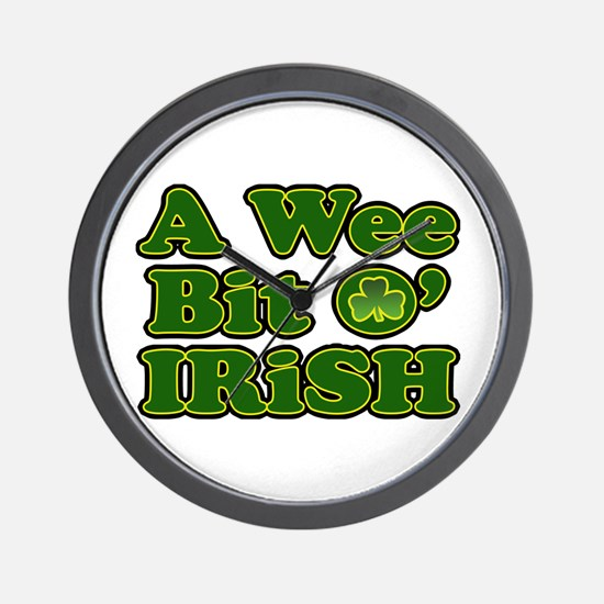 Wee Bit O Irish Wall Clock