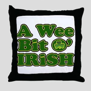 Wee Bit O Irish Throw Pillow