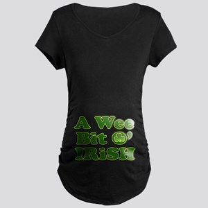 Wee Bit O Irish Maternity Dark T-Shirt