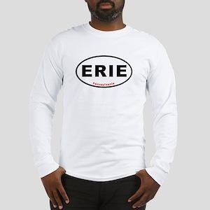 ERIE  Euro Oval Sticker T-shi Long Sleeve T-Shirt