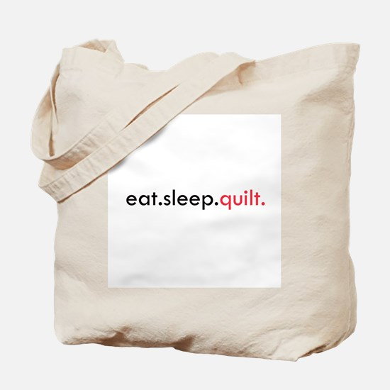 Eat Sleep Quilt Tote Bag