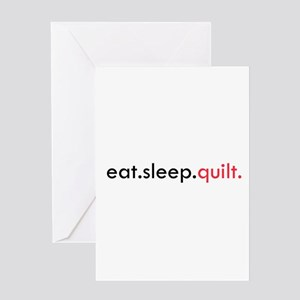 Eat Sleep Quilt Greeting Card