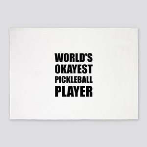 Worlds Okayest Pickleball Player Funny 5'x7'Area R