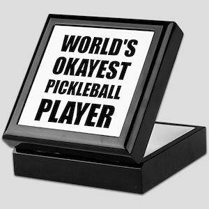 Worlds Okayest Pickleball Player Funny Keepsake Bo