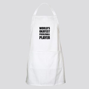 Worlds Okayest Pickleball Player Funny Light Apron