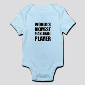 Worlds Okayest Pickleball Player Funny Body Suit