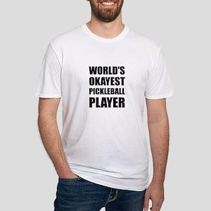 Worlds Okayest Pickleball Player Funny T-Shirt