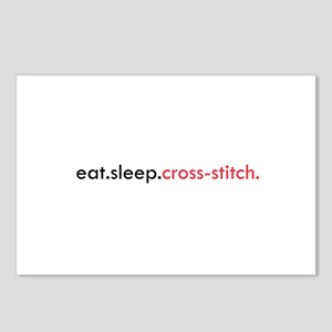 Eat Sleep Cross Stitch Postcards (Package of 8)