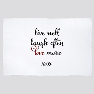 Live Well, Laugh often, Love More xox 4' x 6' Rug