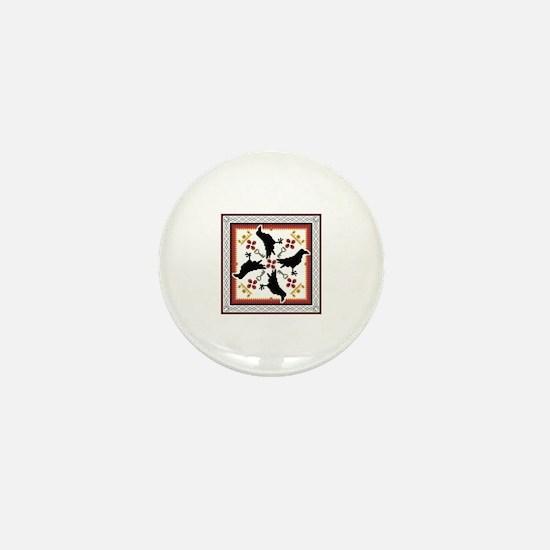 Cute Celtic crow Mini Button