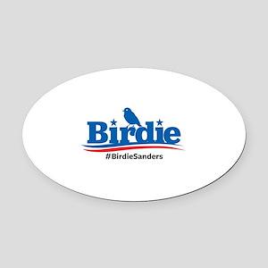Birdie Sanders Oval Car Magnet