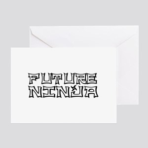 Future Ninja Greeting Card