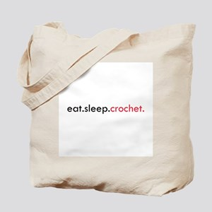 Eat Sleep Crochet Tote Bag