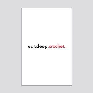 Eat Sleep Crochet Mini Poster Print