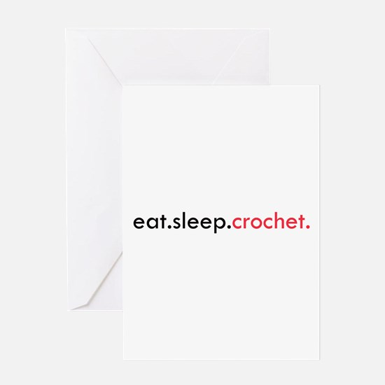 Eat Sleep Crochet Greeting Card