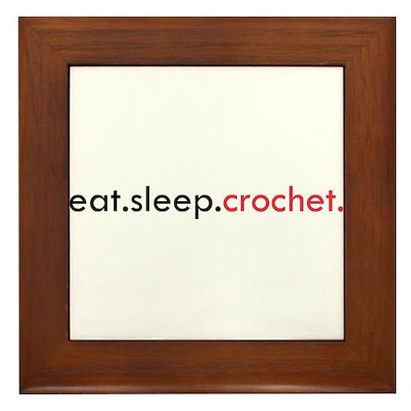 Eat Sleep Crochet Framed Tile