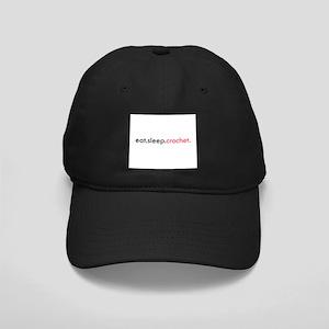 Eat Sleep Crochet Black Cap