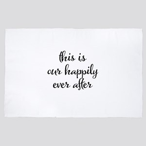 This is our happily ever after 4' x 6' Rug